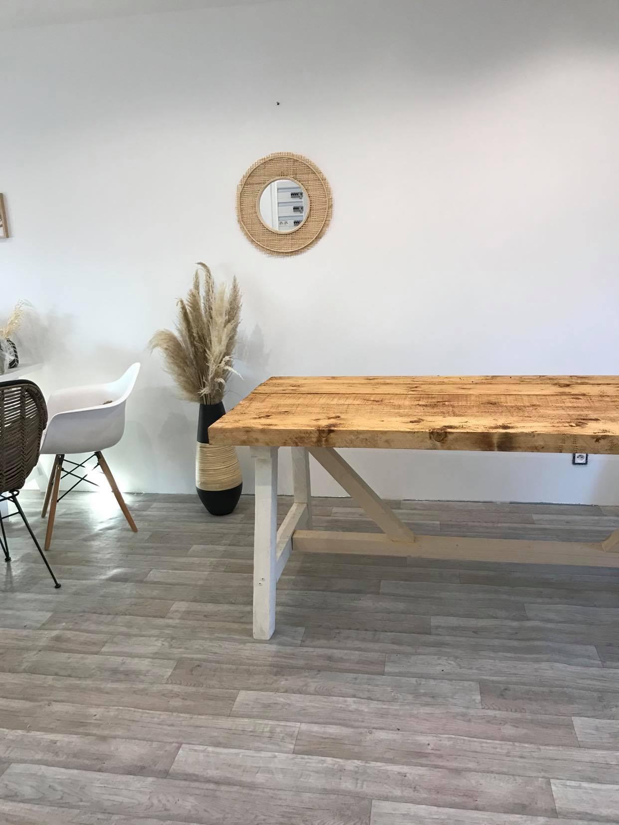 DIY   Réaliser une table à manger en bois   www.lohina.com
